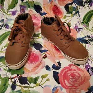 Boys brown Van's size 2